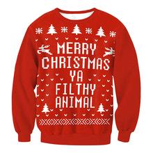 2019 jesienno-zimowa Xmas swetry damskie świąteczny niegrzeczny sweter Santa Tree Snowflake drukuj długi sweter z rękawem kobiece tuniki topy tanie tanio romacci Elastan Poliester Polyester Spandex Na co dzień Komputery dzianiny O-neck Pełna REGULAR NONE Brak Christmas sweater