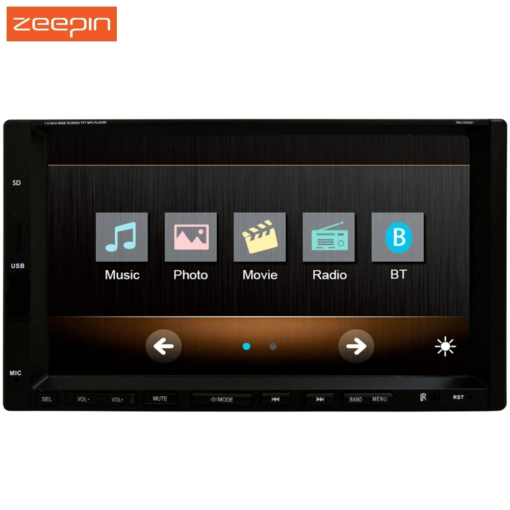 7 inch RM-CW 9301 Car Radio Audio Stereo Touch Screen Bluetooth Car MP3 MP4 Player 1080P Support Steering Wheel Control Camera