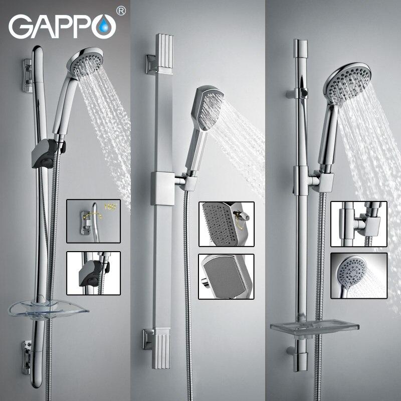 GAPPO ванная комната душевая горка из нержавеющей стали ручной душ бар настенное крепление ручной душ набор мыльница держатель опрыскиватель набор душ