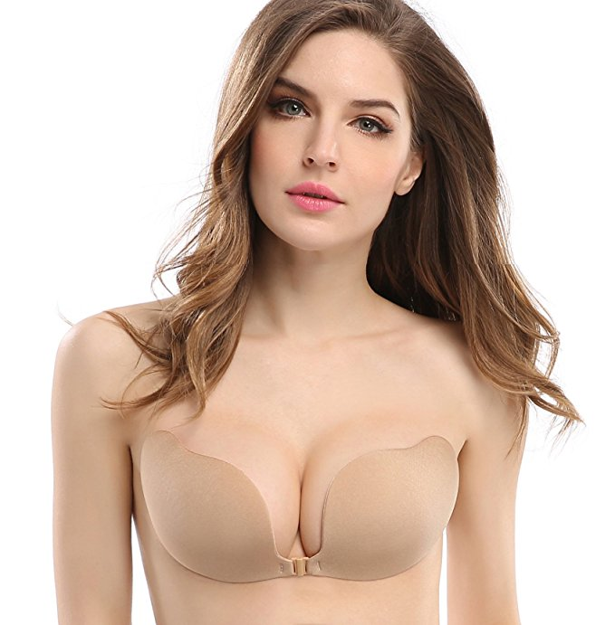 9279b6a963d Womens Ladies Sexy Push Up Stick On Gel Backless Silicone Reusable  Invisible Bra Women s Strapless Self