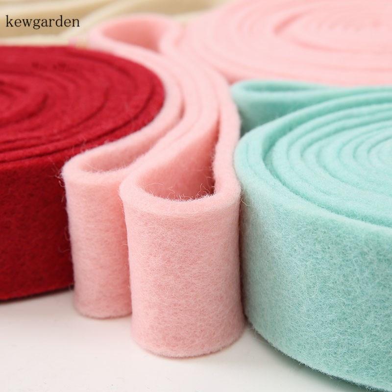 Kewgarden Wool Felt Fabric Ribbons DIY Bowknot Flower Ribbon 50MM 2