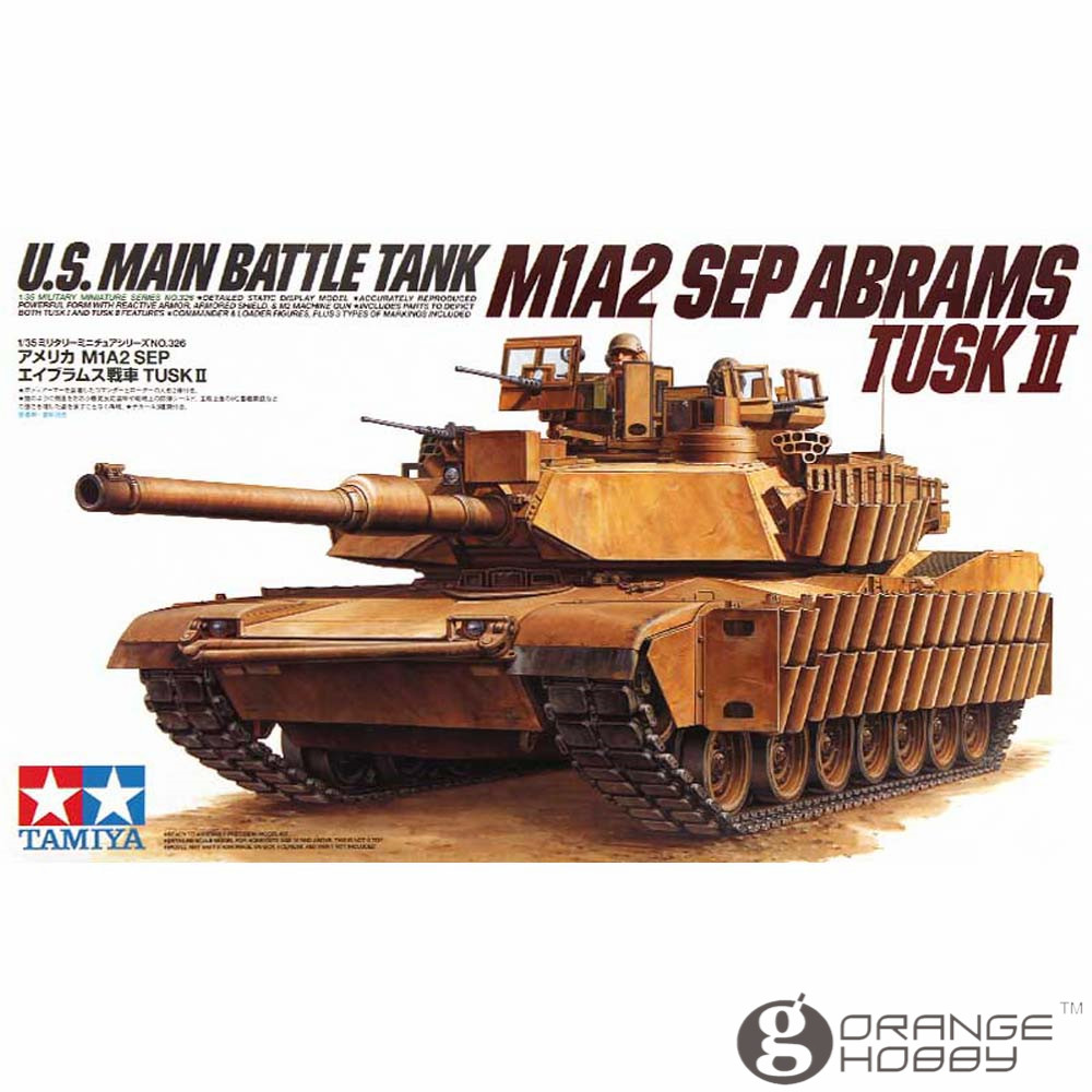 OHS Tamiya 35326 1/35 U.S. Main Battle Tank M1A2 Sep Abrams Tusk II Military Assembly AFV Model Building Kits ohs meng ts015 1 35 german main battle tank leopard 1 a5 military afv model building kits