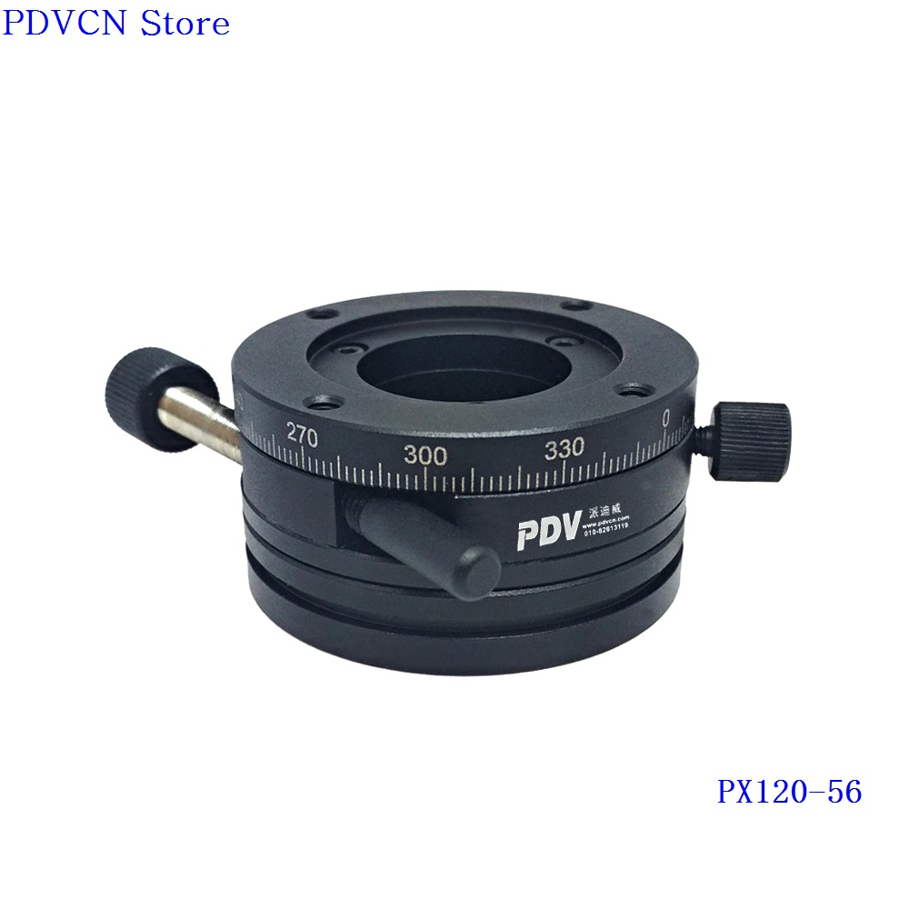 PX120-56 R Axis Manual Rotation Stage, Rotating Platform, Optical Sliding Table, dia: 56mmPX120-56 R Axis Manual Rotation Stage, Rotating Platform, Optical Sliding Table, dia: 56mm