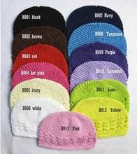 21 colores nueva Alta Calidad del bebé del casquillo del ganchillo skullies  Kufi sombreros niño niña 09df4856f91