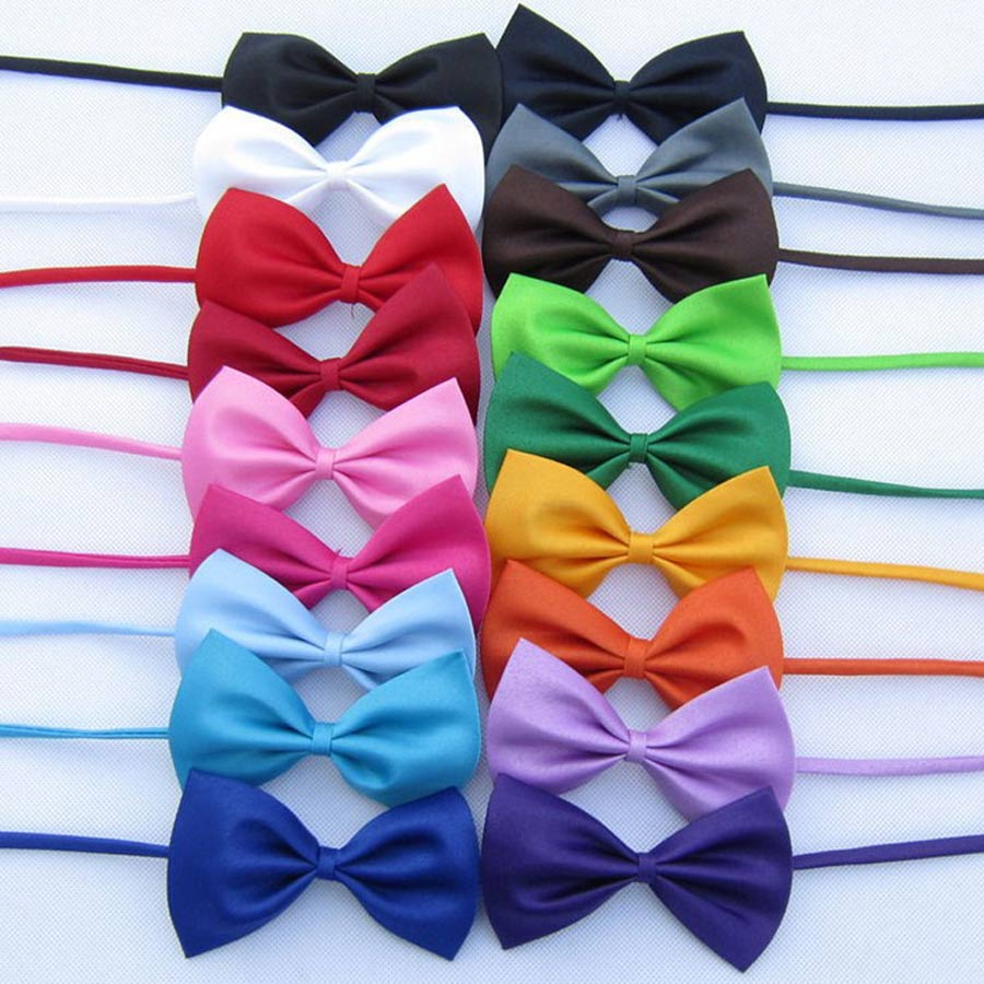 Wholesale Kids Children Bow Tie 20 Colors Solid Plain Butterfly For Tuxedo Wedding Banquet Birthday Prom Costumes Gift Neck Bows
