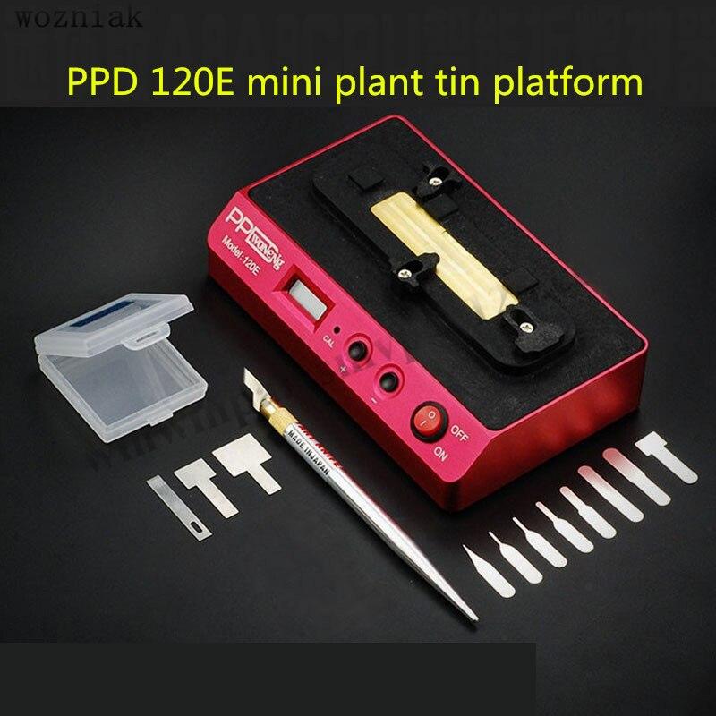 PPD 120E трафарет паяльная станция для iPhone BGA NAND чипсеты A8 A9 открытый процессор BGA NAND интеллектуальные инструменты для распайки