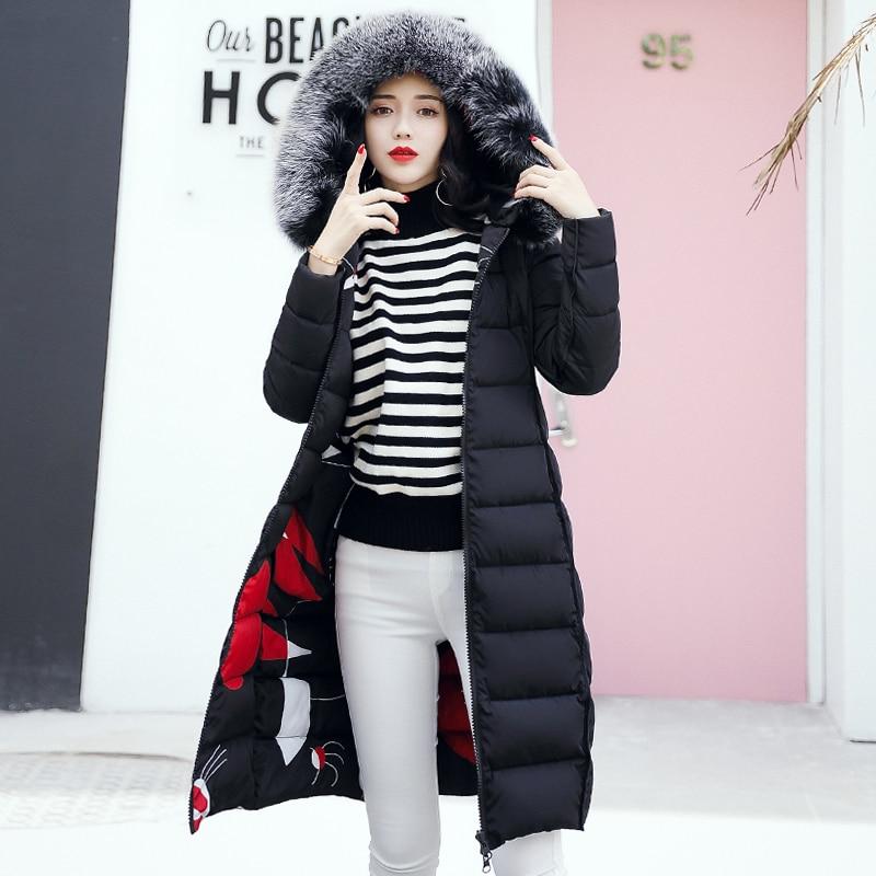 19 winter women hooded coat fur collar thicken warm long jacket female plus size 3XL outerwear parka ladies chaqueta feminino 7