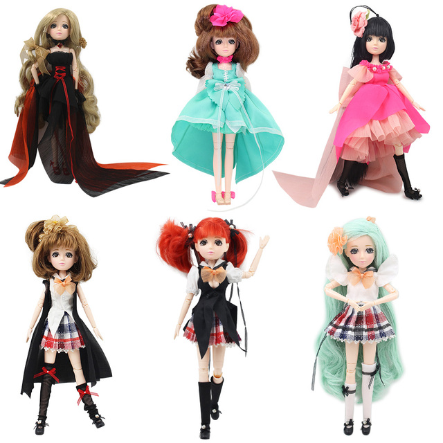 ICY blyth Xiaojing doll New Style Movable Joint Body Fashion High Quality Girls Plastic Classic Toys Best Gift bjd doll diy 1