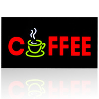 NEW Cheap Custom LED Shop Open Signs Coffee Business LED OPEN SIGN Animated Motion DISPLAY On