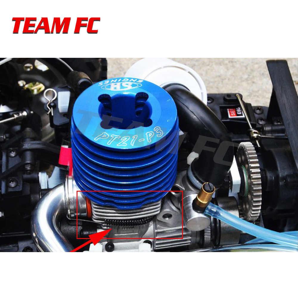 3 шт. выхлопная труба с глушителем Весна глушитель Столярный пружинный 100 мм RC автомобиль HSP Himoto HPI Losi осевой RedCat S65