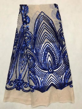 New Arrival Fashion Design African SYJ-41913 Lace Fabric High Class Embroidered African Lace Dress Sequins Lace Fabric For Party