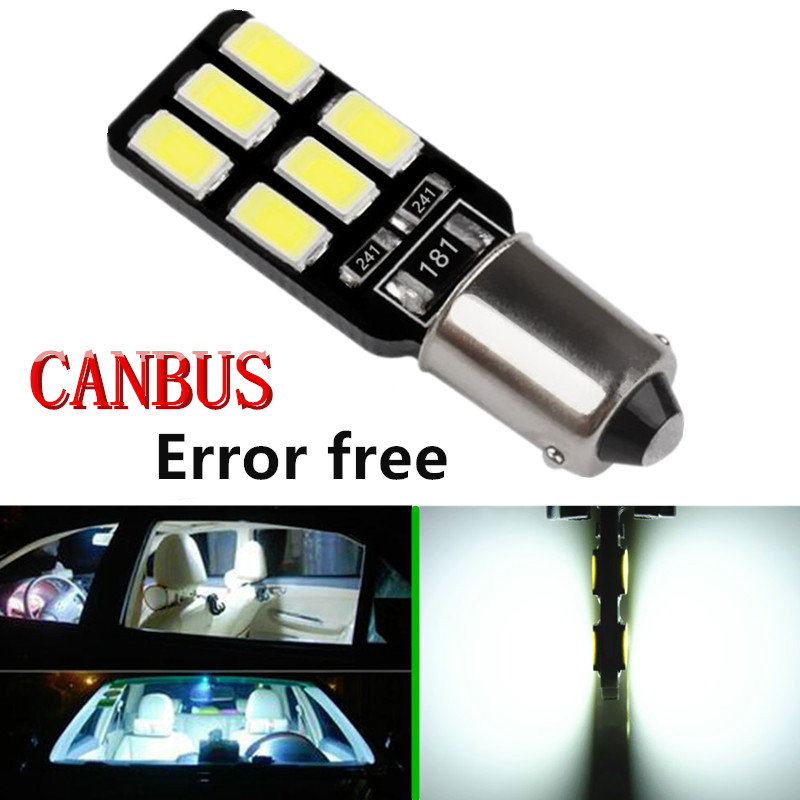 BA9S 12 SMD 5630 LED Canbus lamps Error Free t4w h6w Car LED bulbs interior Lights Car Light Source parking 12V White 6000K t10 3w 144lm 6 x smd 5630 led error free canbus white light car lamp dc 12v 2 pcs