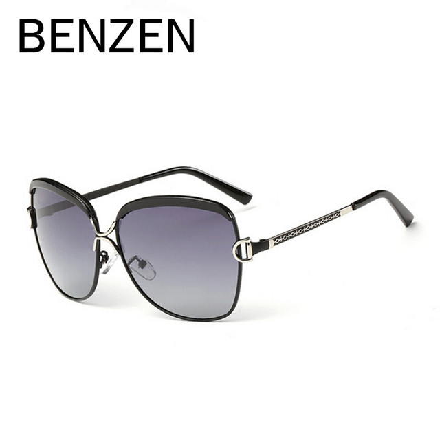 f67a327067ca0 BENZEN Luxo Retro Lentes Polarizadas Óculos De Sol Das Mulheres de Grandes  Dimensões Óculos de Sol