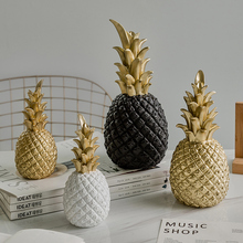Nordic Style Resin Golden Pineapple Piggy Bank Living Room Wine Cabinet Window Desktop Party Wedding Home Ramadan Decoration Ac