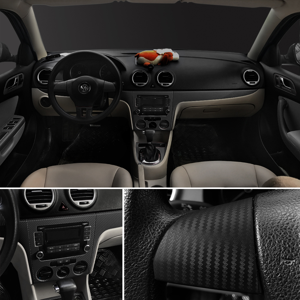 Image 4 - 30x127cm 3D Carbon Fiber Vinyl Film Car Stickers Waterproof Car Styling Wrap Auto Vehicle Detailing Car accessories Motorcycle-in Car Stickers from Automobiles & Motorcycles