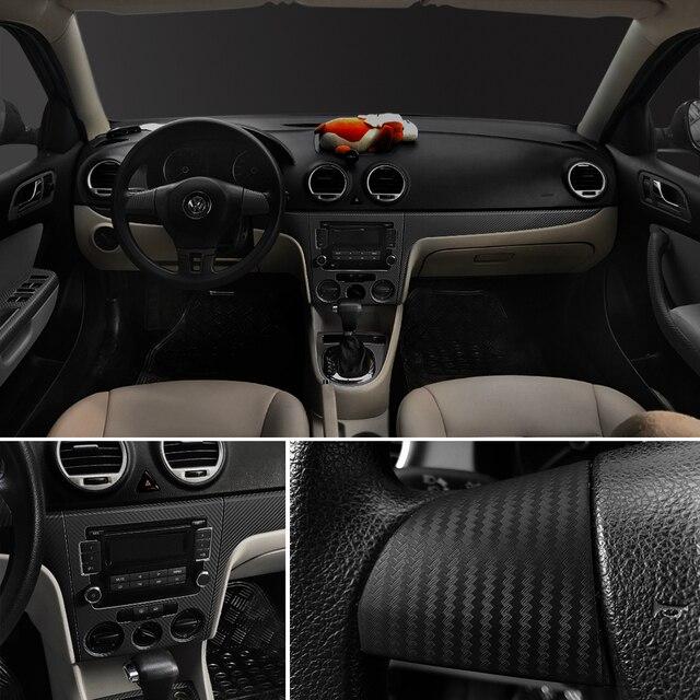 30x127cm 3D Carbon Fiber Vinyl Film Car Stickers Waterproof DIY Styling Wrap Auto Vehicle Detailing Car