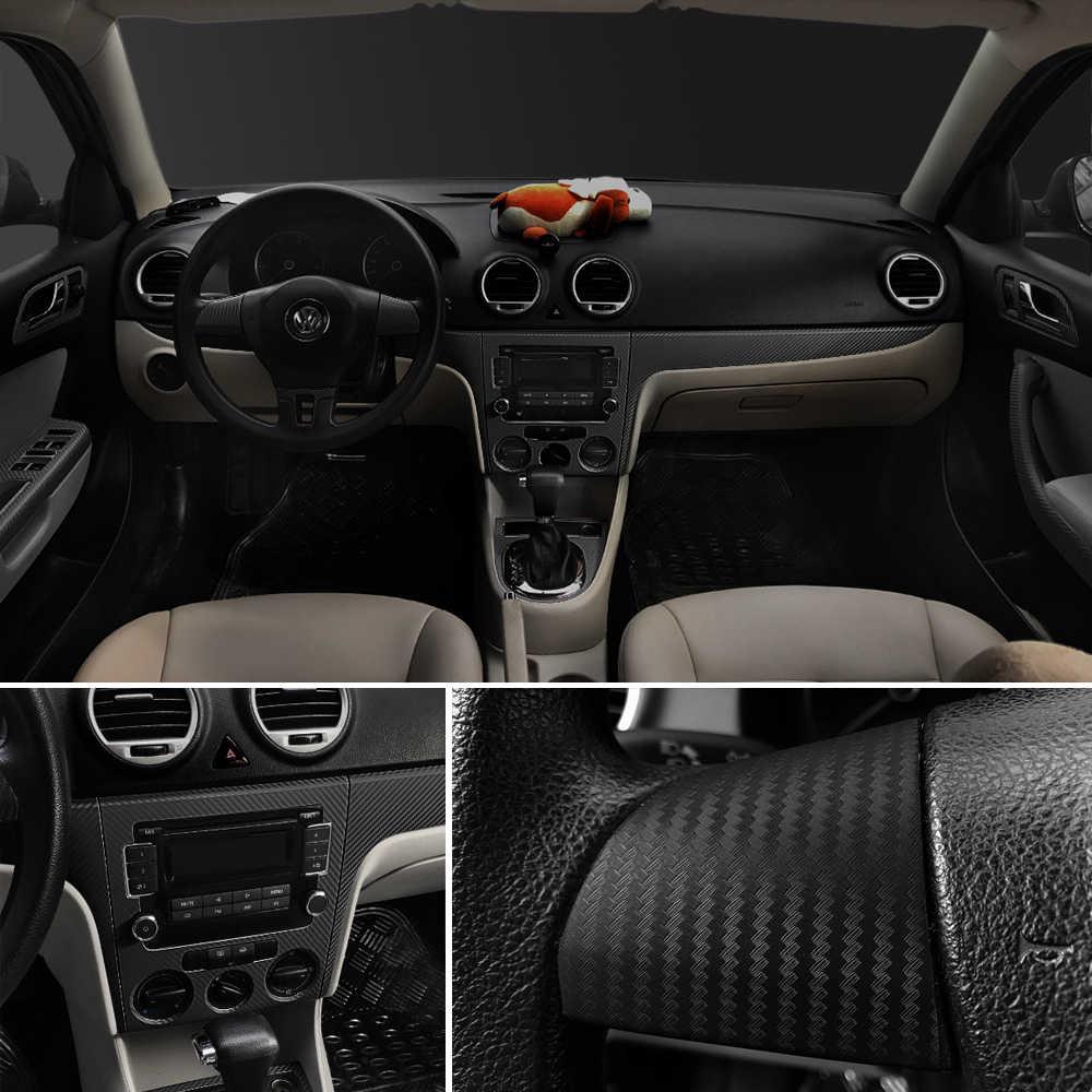 30x127cm 3D película de vinilo de fibra de carbono pegatinas de coche impermeable estilo del coche envoltura Auto vehículo que detalla los accesorios de la motocicleta