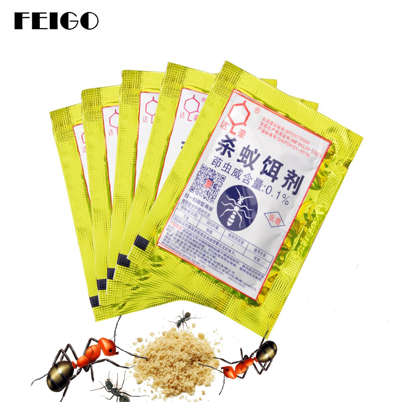 Feigo 3pc Power Fulant Baits Drug Powder Killer Insect Net Bait Reject Catcher Pest Control Repeller Mier Hormiga Trap Anti F605