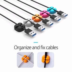 Image 5 - ORICO 10 Pcs Cable Organizer Colorful Holder Protector Wire Storage Silicone Cable Manager Desk Tidy Organiser For Digital Cable