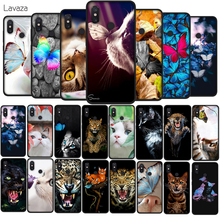 купить Lavaza Butterfly Stand On The Cat Nose Soft TPU Case for Xiaomi Redmi Note 5 6 7 Pro for Redmi 5A 6A S2 5 Plus Silicone Cover дешево