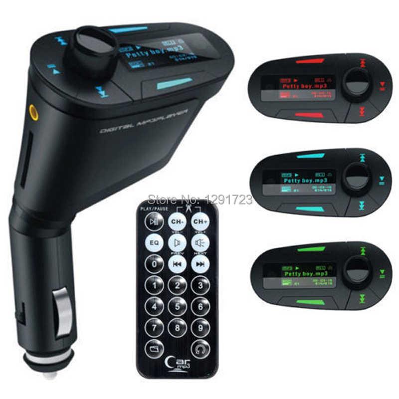Горячая Акция! Красный ЖК-дисплей Автомобильный MP3-плеер Беспроводной FM передатчик модулятор/USB/SD/MMC + Предохранитель + пульт дистанционного управления Управление автомобильный комплект плеера