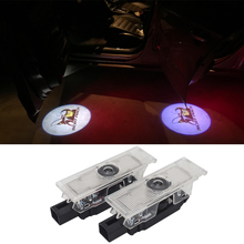 купить 1 Pair LED Car Door Light For Dodge Ram 1500 Joury Caliber Durango Caravan LED Car Ghost Shadow Light Auto Tuning Accessories дешево