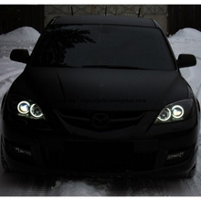 For Mazda 3 mazda3 2002 2003 2004 2005 2006 2007 Ultra Bright Day Light DRL CCFL Angel Eyes Demon Eyes Kit Warm White Halo Ring цена в Москве и Питере