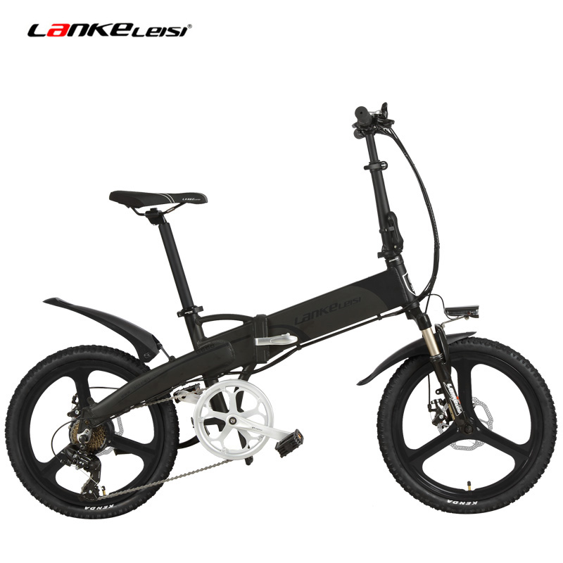 Upgrated G660 20 Inch 5 Grade Assist Folding Electric Bike, 48V 10Ah /14.5Ah Lithium Battery,with LCD Meter,Aluminum Alloy Frame