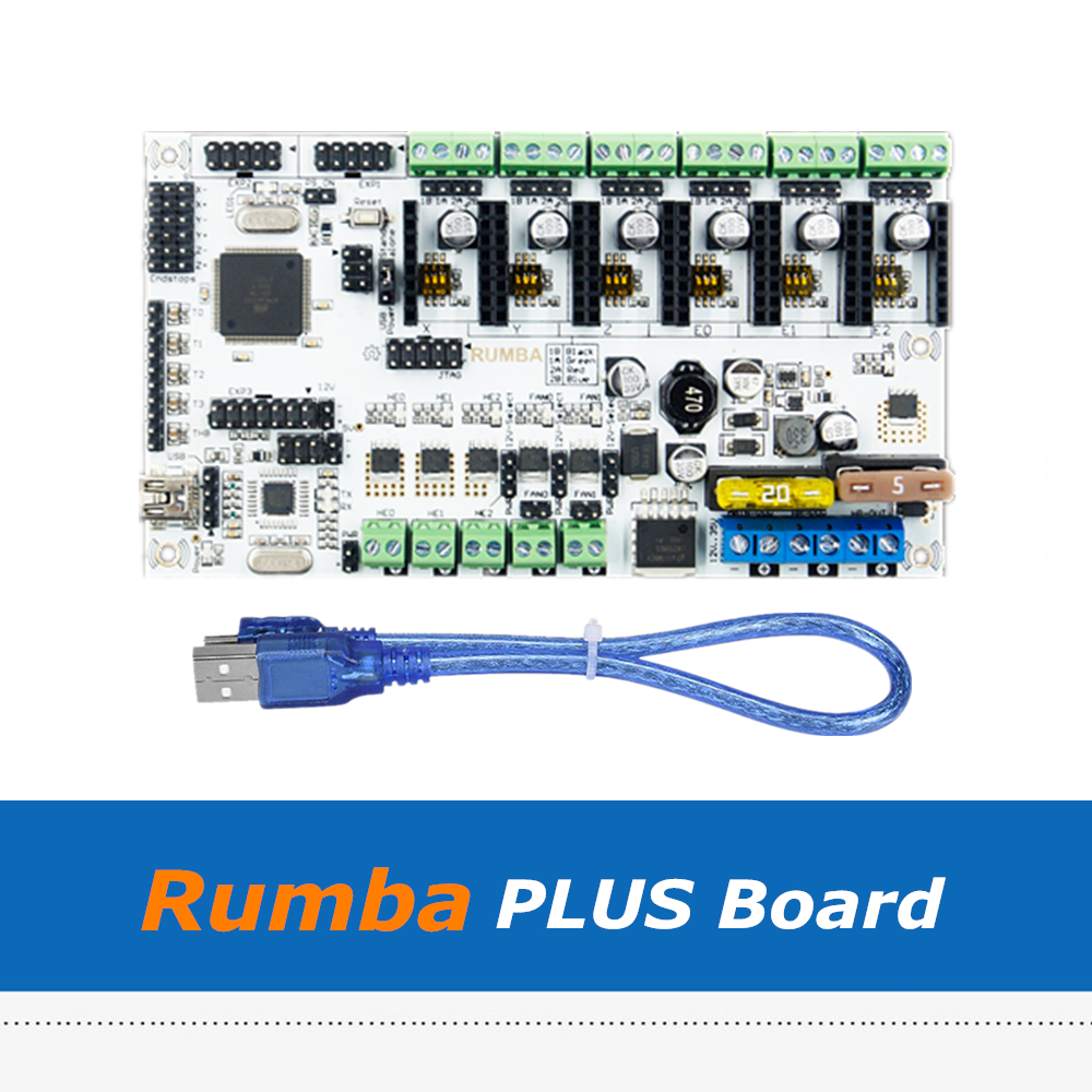 New Rumba Plus Motherboard 2560 R3 Processor Upgrade Rumba+ Control Board For 3D Printer Accessories rumba plus motherboard 2560 r3 processor upgrade rumba control board with 6pcs tmc2100 drivers suitable for mks tft display