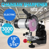 Best Saw Chain Grinder with Grinding Wheel 1/8 and 3/16 Inch Electric Chainsaw Sharpener 230W 3000RPM Bench Chainsaw Sharpener