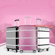 24 INCH 20242629# An upgraded version the latest fashion in  trolley luggage aluminum frame password box # FREE SHIPPING