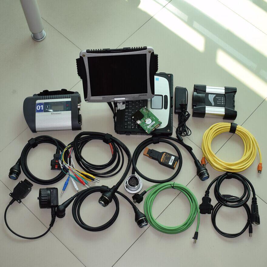 2018 Новое поступление инструменту диагностики для мб звезды c4 для BMW ICOM рядом с CF-19 ноутбук 4 г с 1 ТБ 2in1 HDD новейшее программное обеспечение
