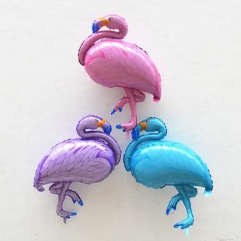 KUAWANLE 50pcs/lot 105*51cm Flamingos Balloon Baby Shower Cartoon Birds Foil Helium Balloons Birthday Party Decoration Globos