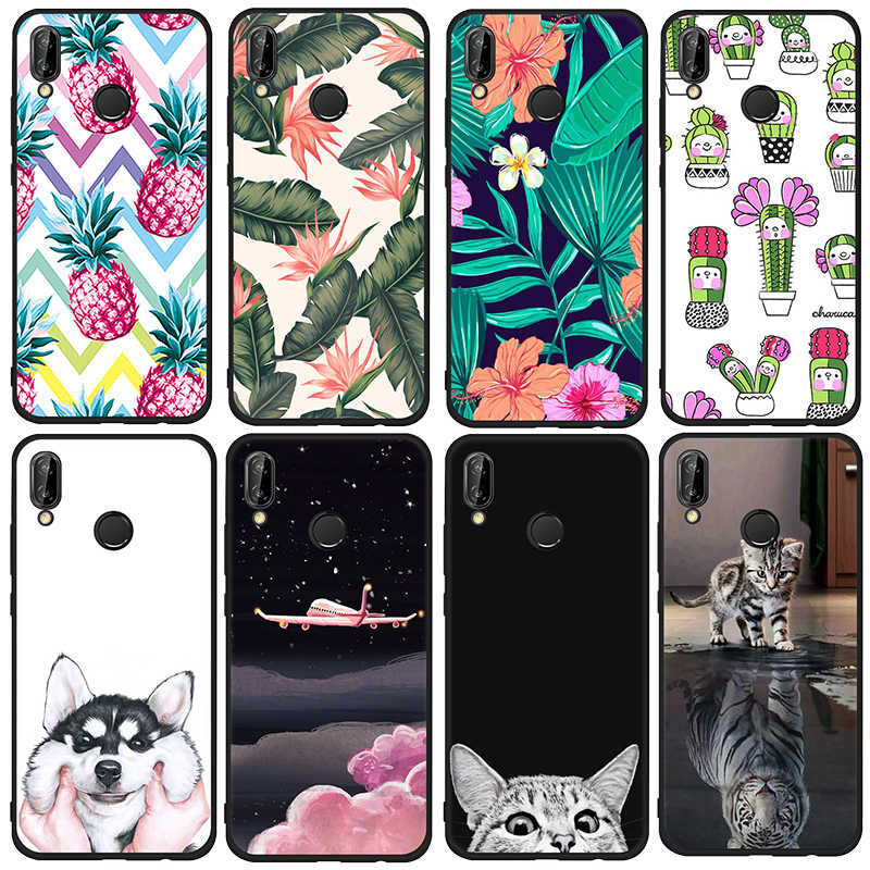 Soft TPU Case For Huawei P20 Mate 10 Lite P20 Pro P10 P9 P8 Lite 2017 For Honor 9 8 Lite Nova 3e 2i Cover Phone Fundas Coque
