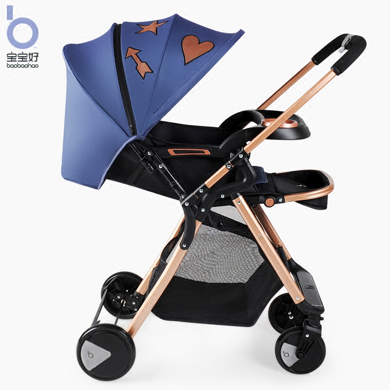 Baby Stroller Qk1 High View Can Si and Can Lie trolley  Light Folding Children's strollers  Two-way Baby Carriage