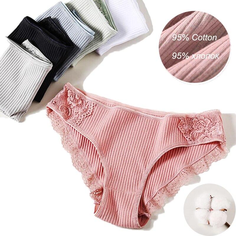 Set Underwear Women Cotton   Panties   Female Lace   Panties   Lingerie Ladies Comfortable Floral Underpants Woman Girls Pantys Briefs