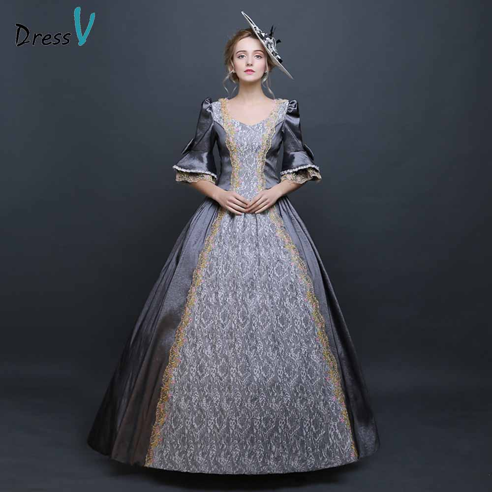 Dressv evening dress court queen costume evening dress sweetheart ...
