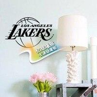 DIY vinyl NBA Los Angeles lakers abzeichen logo basketball decoral wandaufkleber für jungen raumdekoration