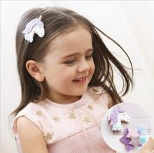 2PCS New Shining Dimensional Unicorn Star Girls Hair Clips Kids Hairpins Barrettes Children Hair Accessories цена 2017