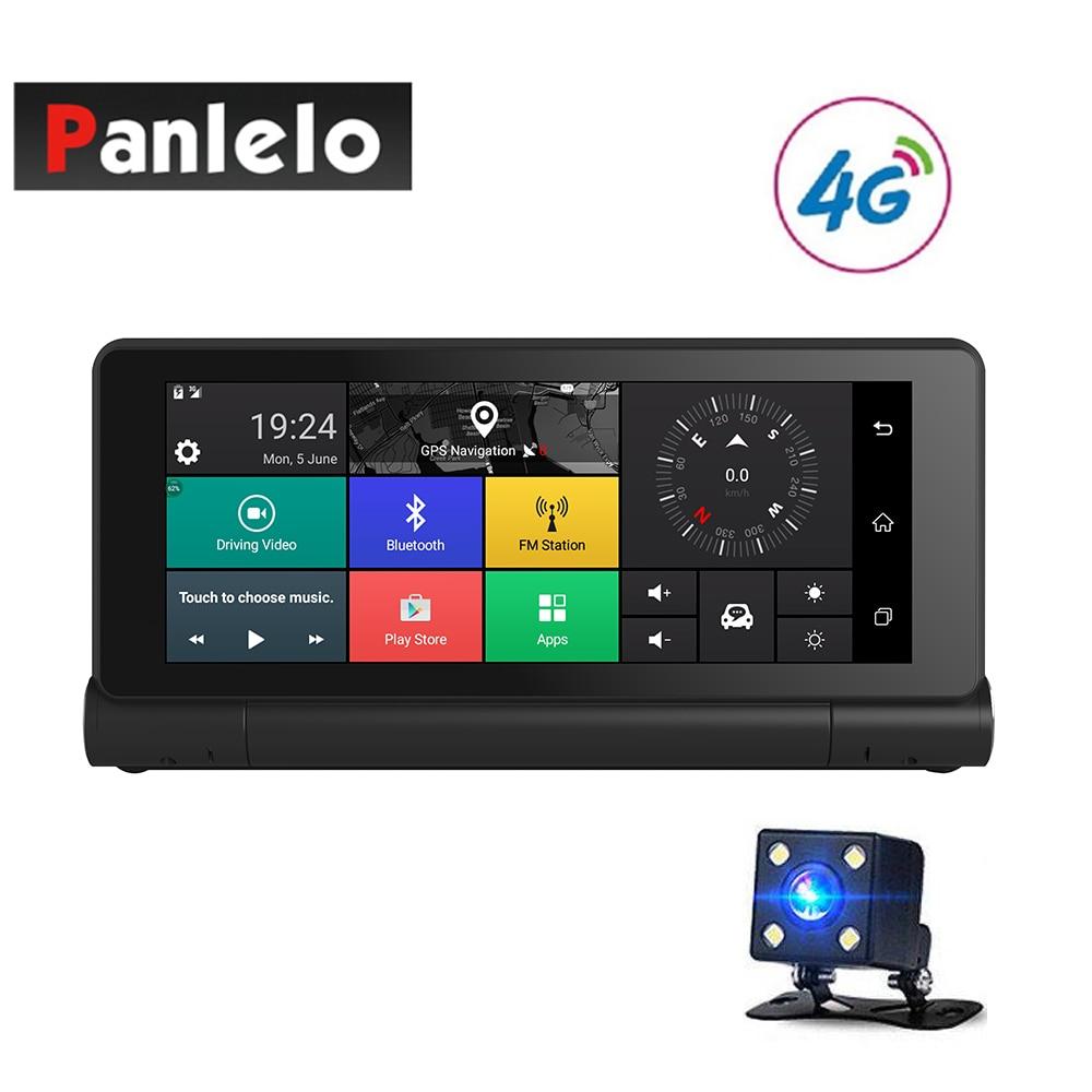 Автомобиль видеорегистратор DVR 6,86 Android 5,0 автомобиль gps навигация 1080 P 3g/4 г Wi-Fi FM передатчик g-сенсор 4 ядра 1 ГБ оперативная память 16 Гб RO
