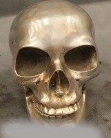 4 Китайский Sillver Реалистичная голова черепа от Gamble статуя