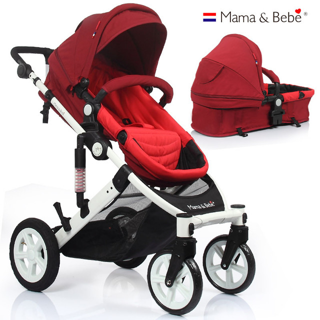 mamabebe stroller high landscape reclining stroller baby can sit deck Combo Two in one shock absorbers stroller  bidirectional