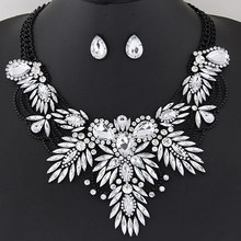 2017 Maxi Necklace Luxury Collar Vintage Rhinestone Necklaces & Pendants Gipsy Style women Statement Necklace earrings sets