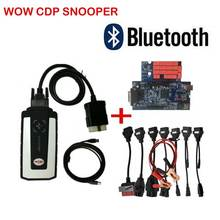 2019 with Bluetooth usb v5.008 R2 keygen WOW cdp snooper as FOR cars trucks vd ds 150e cdp OBD2 diagnostic tool Free ship