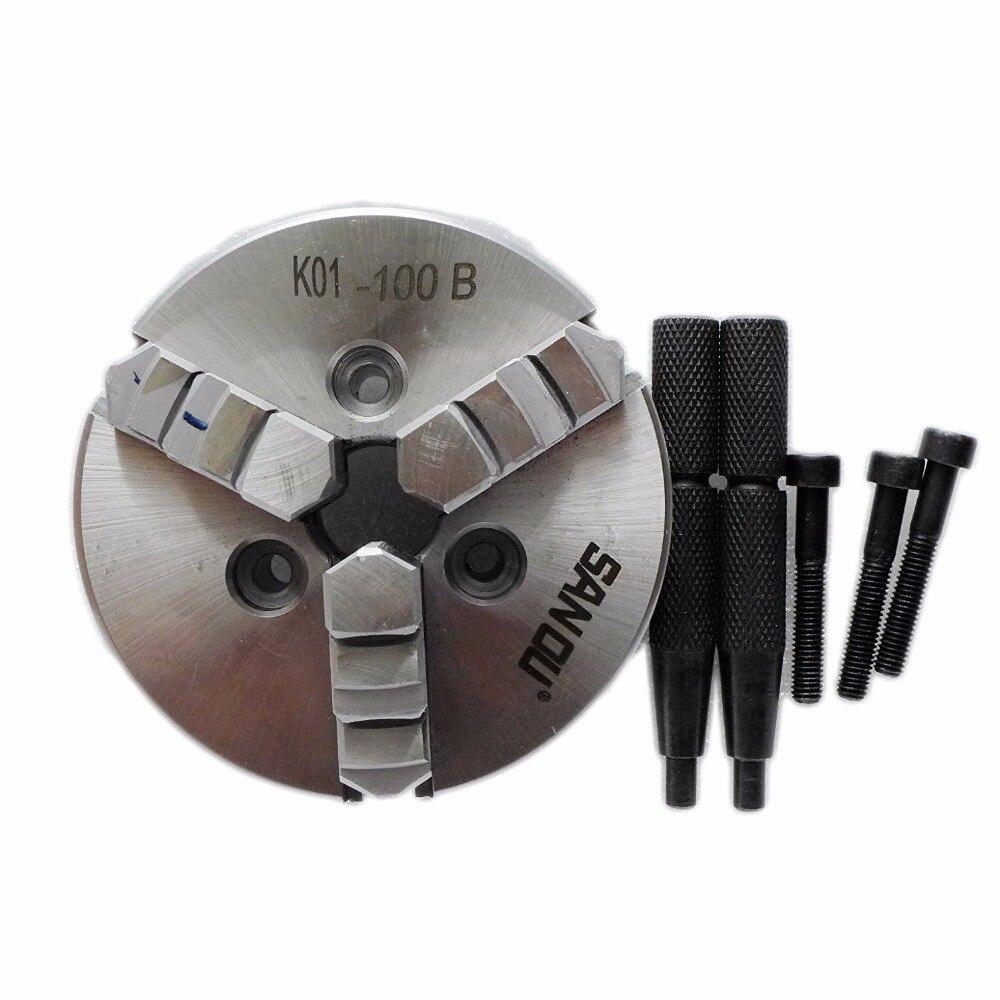 "Здесь продается  K01-100B CNC 3 Jaw LATHE Chuck Self-Centering 4"" Mini Manual Chuck for Wood Lathe  Инструменты"