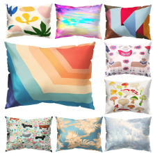 Rectangle Cushion Cover Geometry Pillow Throw Case Sofa Car Waist home decoration accessories