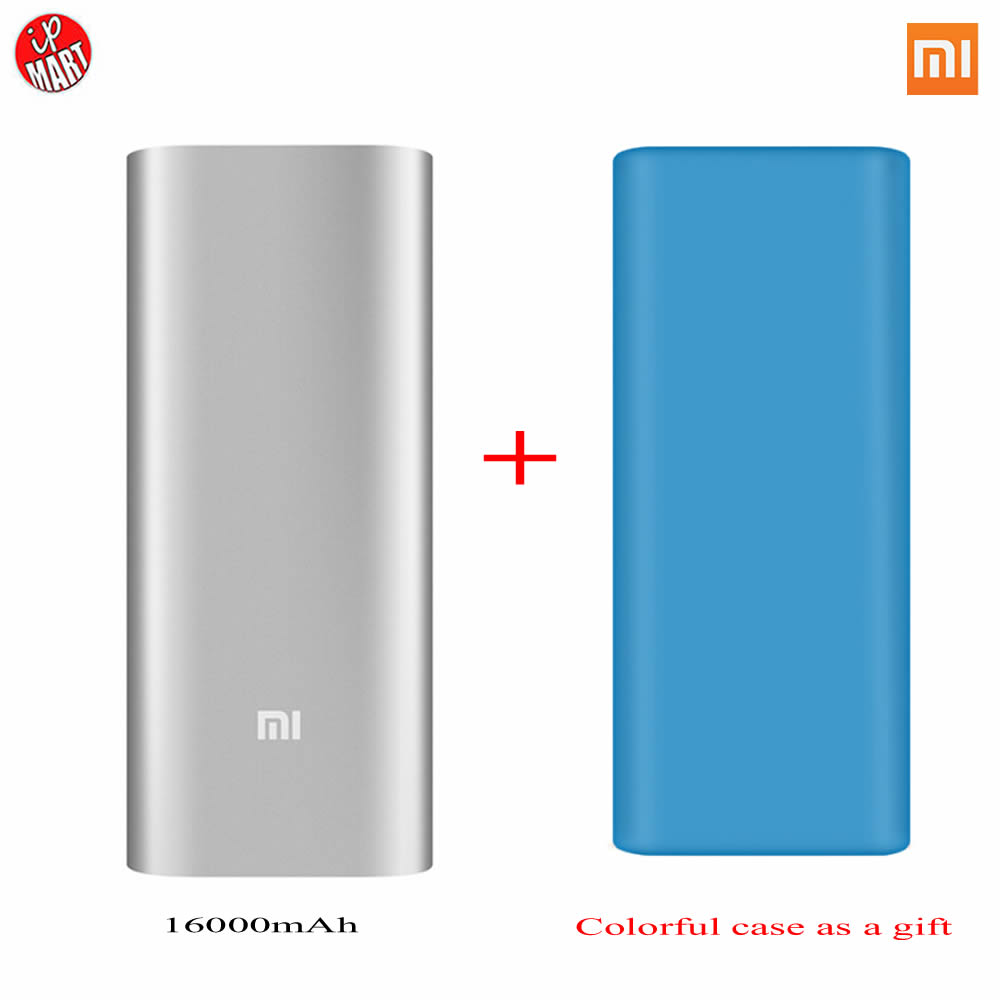 font b Xiaomi b font Power Bank 16000mAh Protector Case Portable Charger PowerBank 18650 External