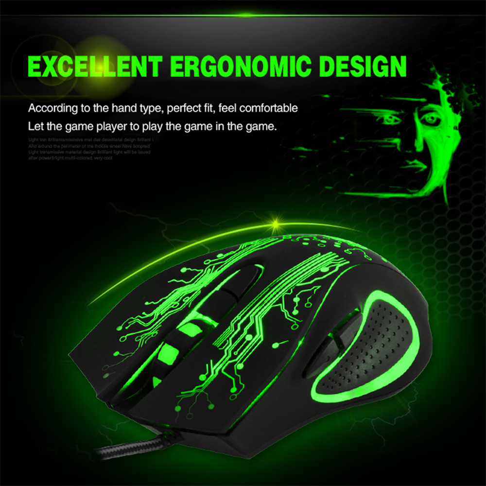 Image 5 - iMice X9 Gaming Mouse Wired Computer Mouse USB Silent Gamer Mice 5000 DPI PC Mause 6 Button Ergonomic Magic Game Mice for Laptop-in Mice from Computer & Office