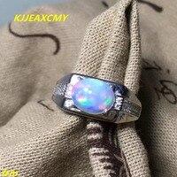 תכשיטי יוקרה 925 כסף משובצים צבעוניים טבעיים KJJEAXCMY דוגמניות טבעת אופל טבעות סיטונאי וקמעוני