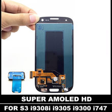 100% Test AMOLED LCD remplacement pour Samsung Galaxy SIII S3 i9300 i9300i i9301 i9305 LCD écran tactile numériseur assemblée(China)